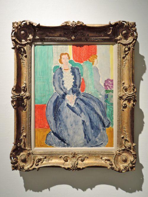 アンリ・マティス「鏡の前の青いドレス」