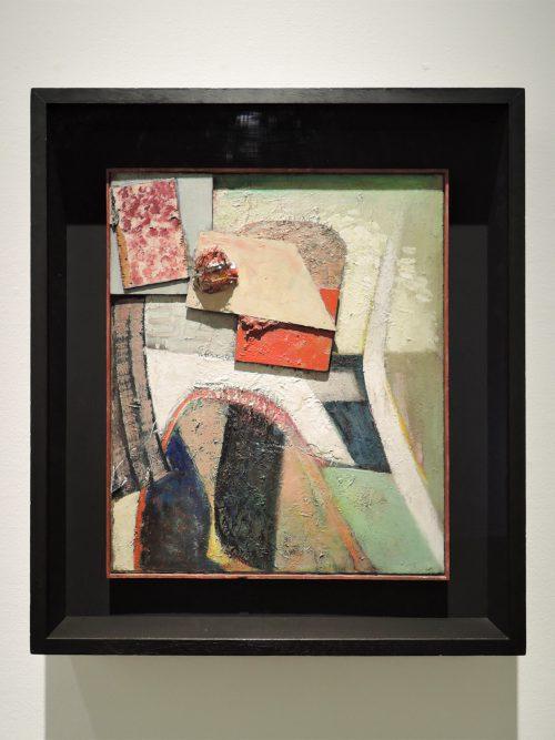 クルト・シュヴィッタース「無題(羊毛玉のある絵画)」