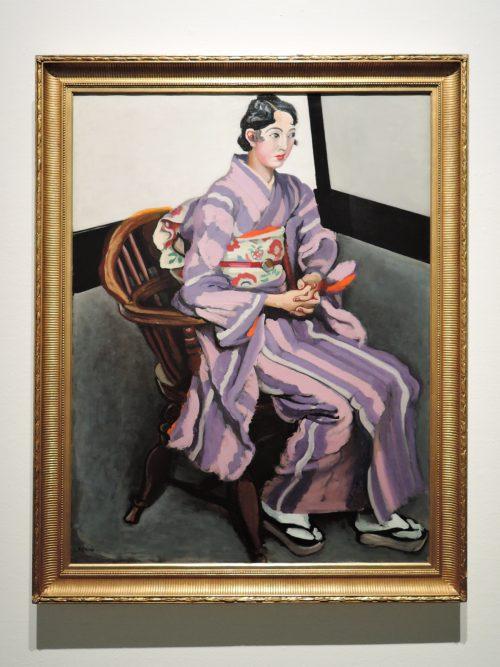 安井曽太郎「婦人像」